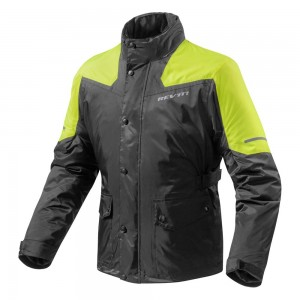 REV'IT Nitric 2 H2O Rain Jacket - Black / Neon Yellow