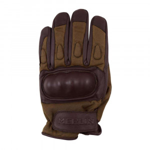 Merlin Ranton Wax Cotton Gloves - Brown