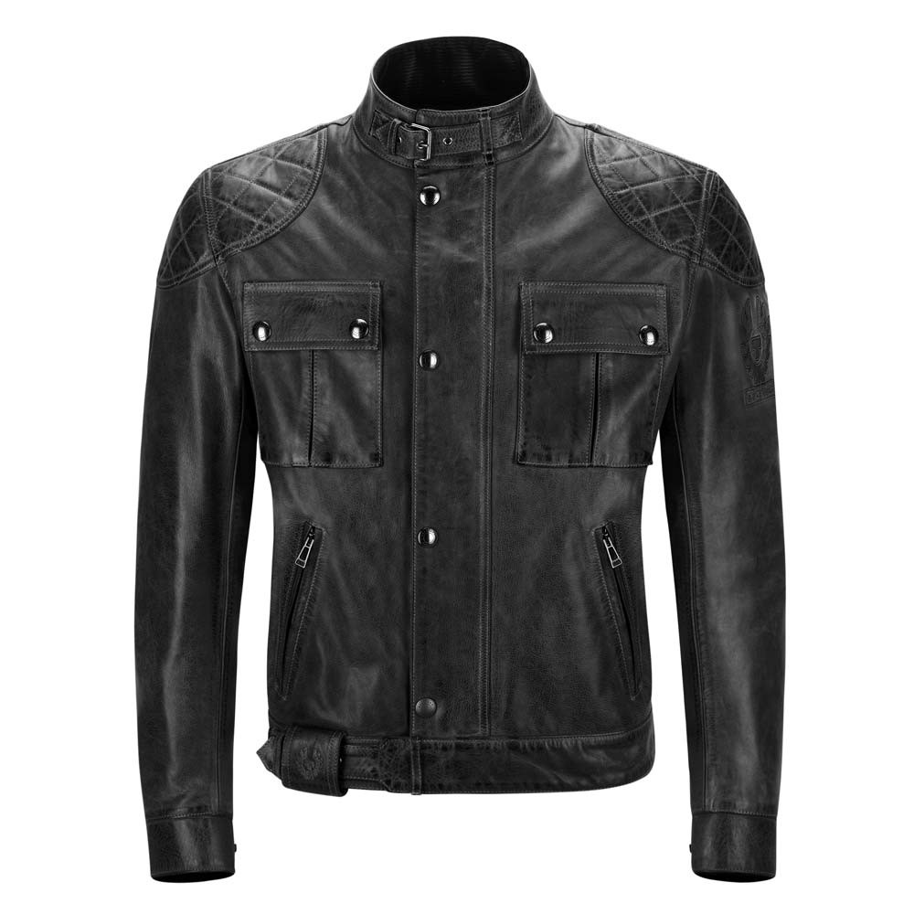 Belstaff Brooklands Leather Jacket - Black