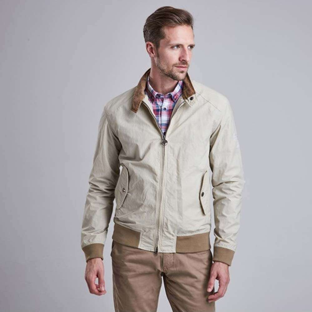 Barbour International Steve McQueen Rectifier Harrington Jacket - Fog