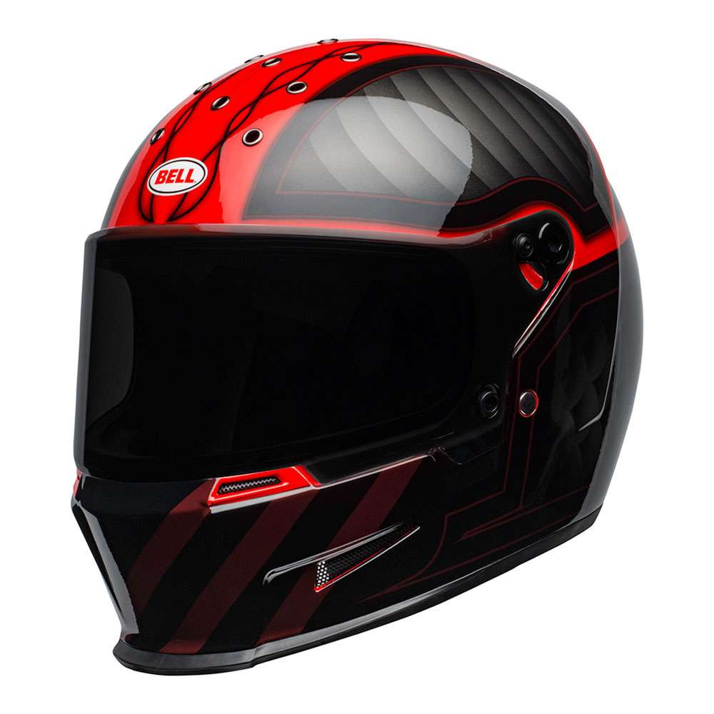 Bell Eliminator Helmet - Outlaw Black / Red