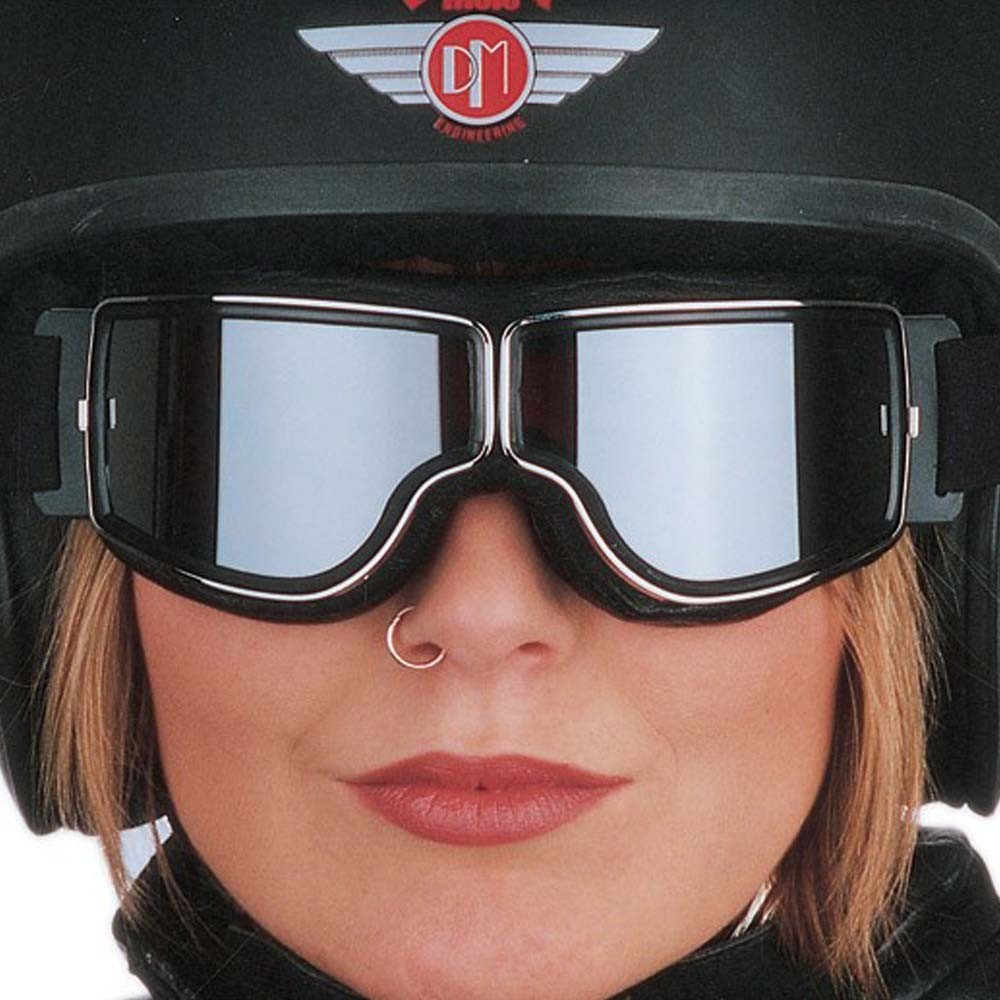 Aviator Pilot Goggles By Leon Jeantet T1 - Black / Gold