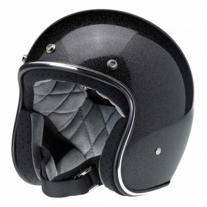 Biltwell Bonanza Helmet - Midnight Black Mini Flake