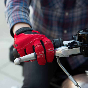 Biltwell Moto Gloves - Red / Black / White