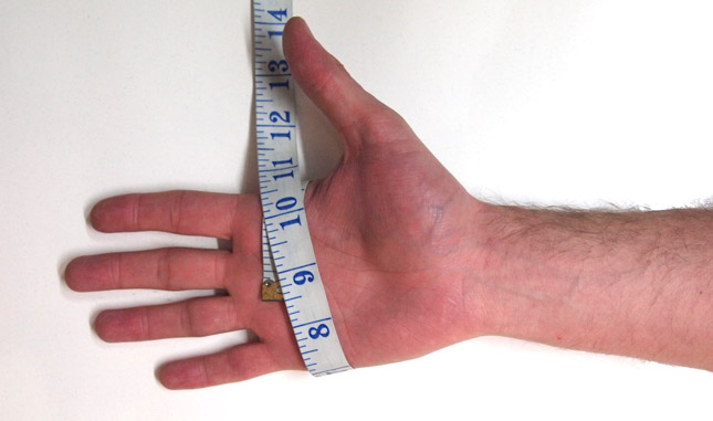 How To Measure Your Hand Image