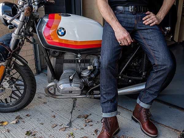 Resurgence skinny cafe arcer pekev kevlar motorcycle jeans protective motorcycle trousers with D3O Ce rated armour