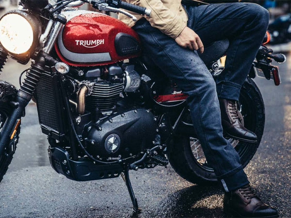 REV'IT motorcycle jeans protective kevlar single layer motorcycle trousers dyneema and cordura denim